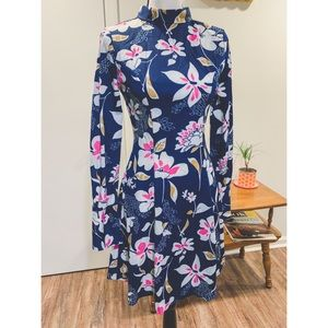 Vtg 60's Tropical Mod Dress